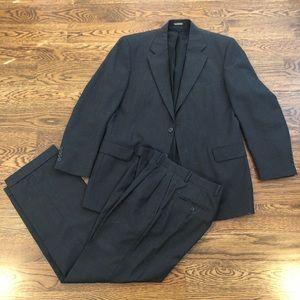 Men's 40R custom gray wool suit